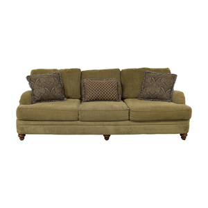 buy Raymour & Flanigan Raymour & Flanigan Brown Three-Cushion Sofa online