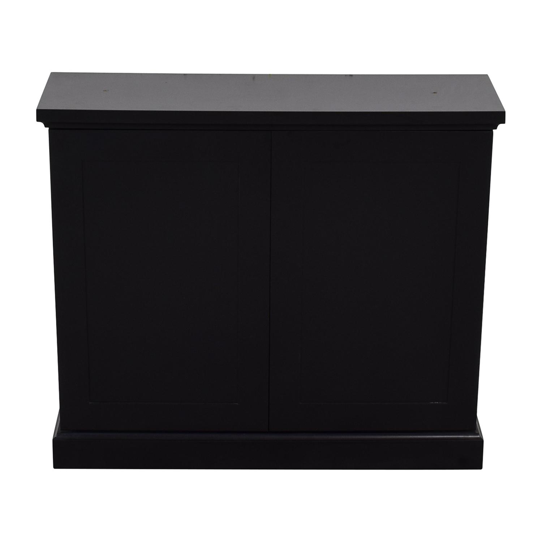 Black Ebonized Wood Two-Door Cabinet