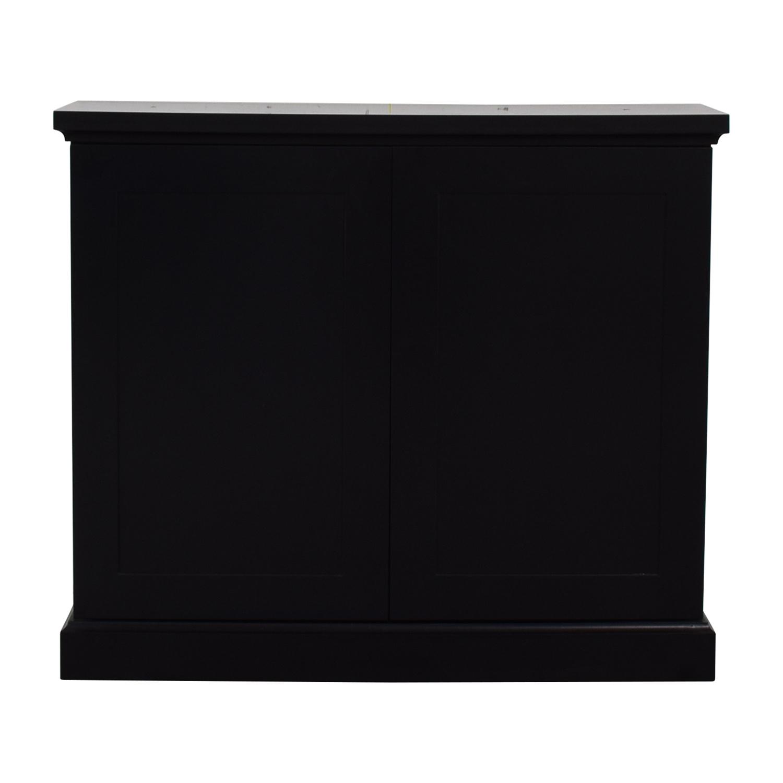 Black Ebonized Wood Two-Door Cabinet on sale
