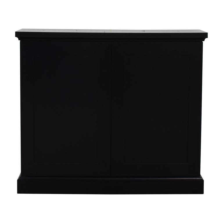 Black Ebonized Wood Two-Door Cabinet nyc