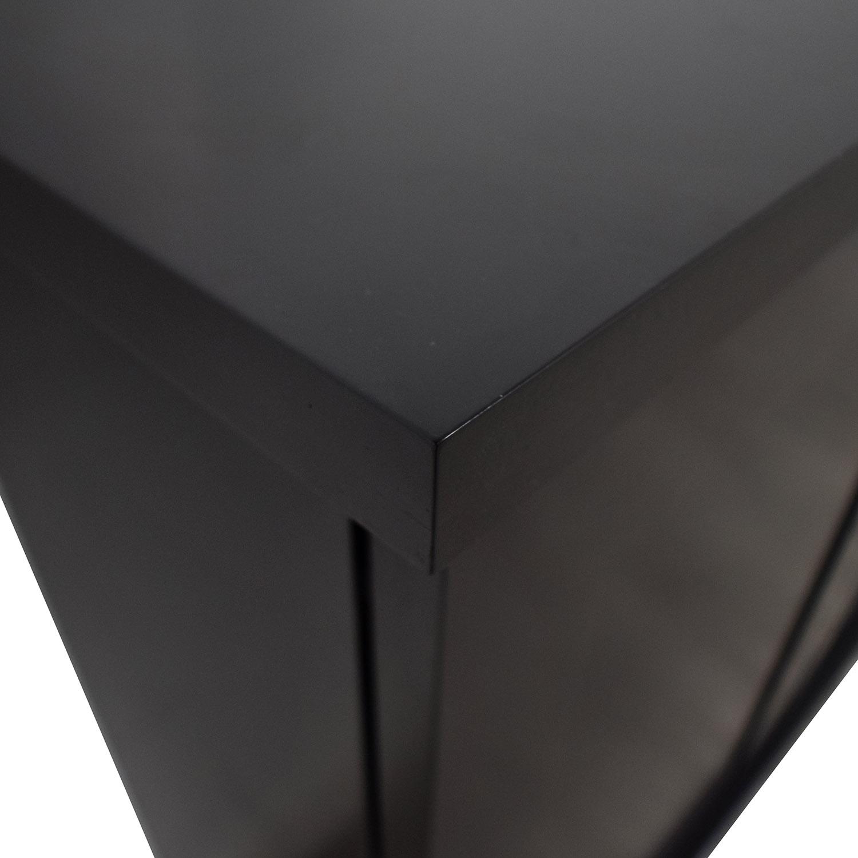 shop Black Ebonized Wood Two-Door Cabinet