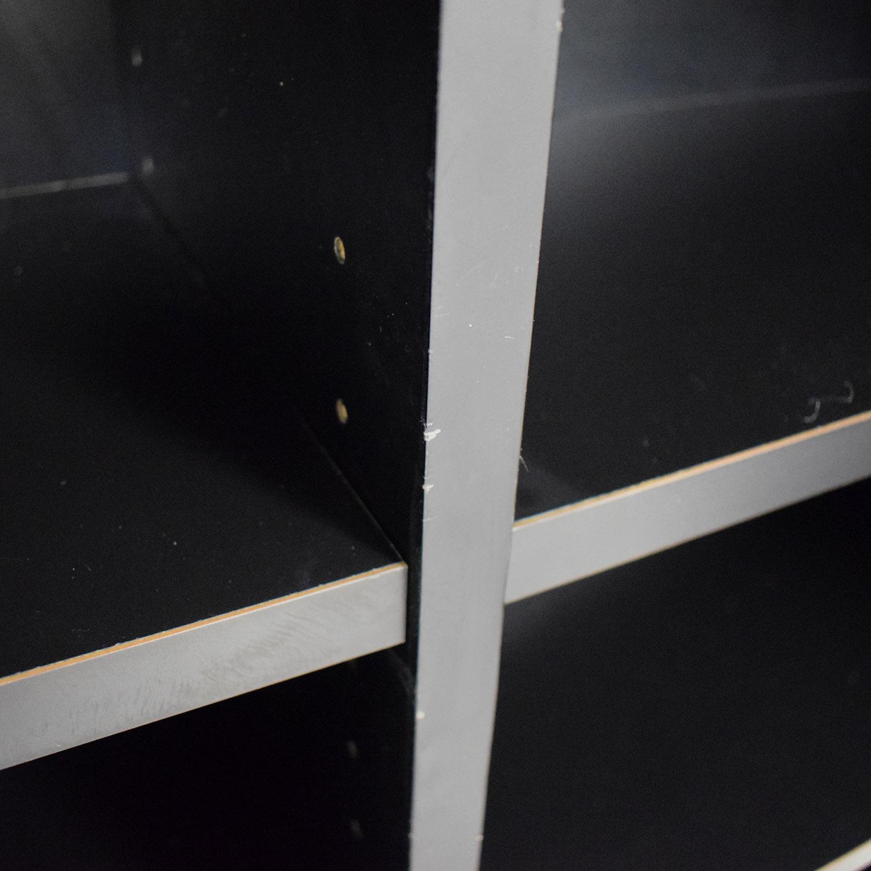 Black Ebonized Wood Two-Door Cabinet second hand