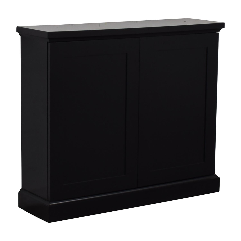 buy  Black Ebonized Wood Two-Door Cabinet online