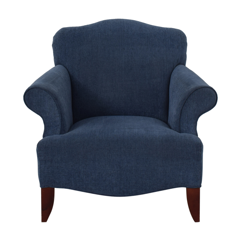 shop Blue Upholstered Arm Chair