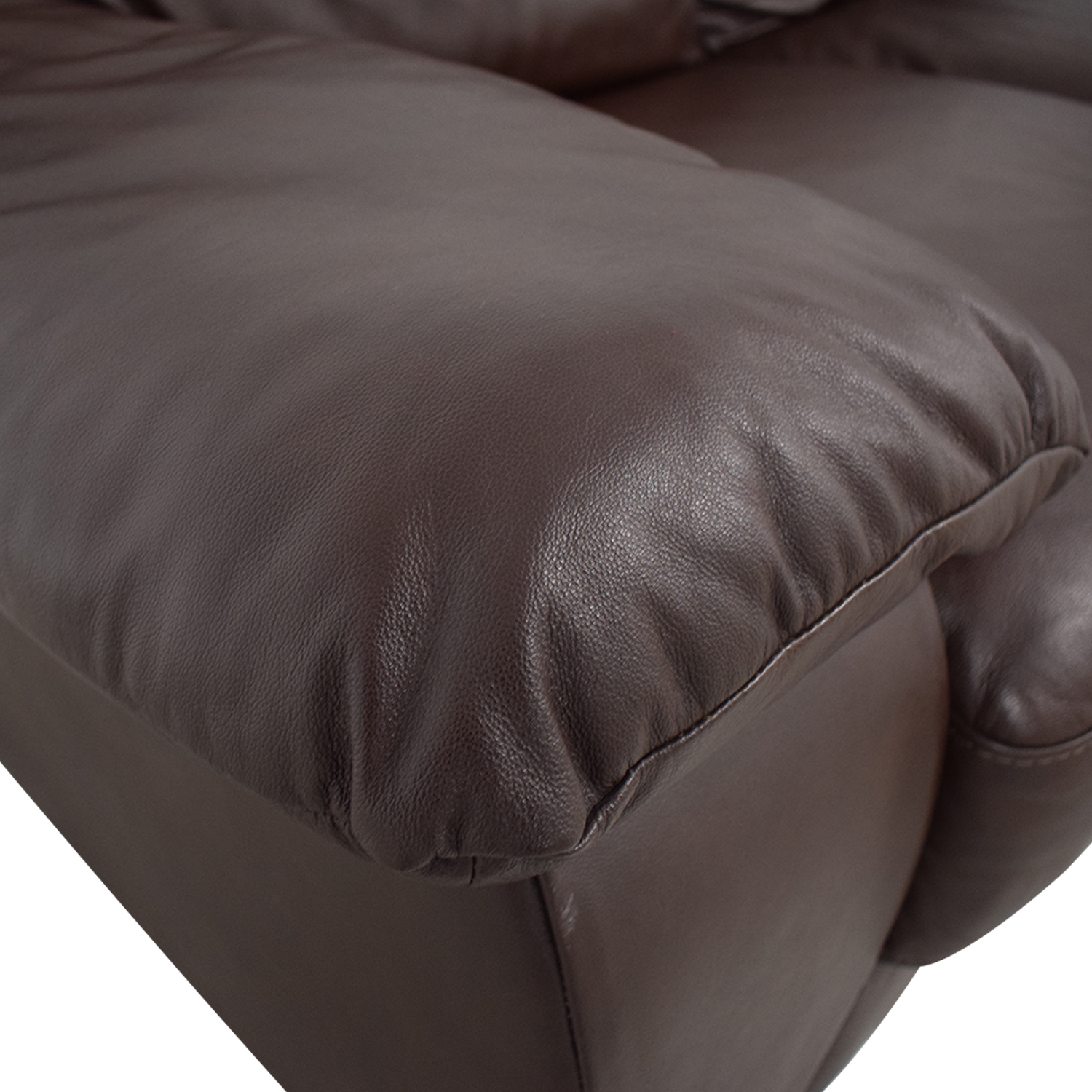 Natuzzi Natuzzi Brown Two-Cushion Loveseat on sale