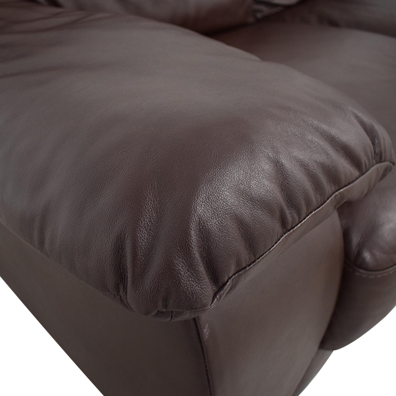 Natuzzi Natuzzi Brown Two-Cushion Loveseat on sale