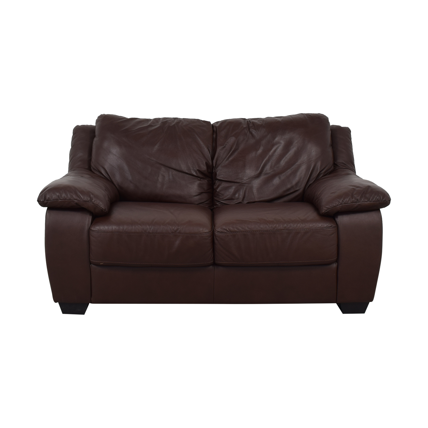 Natuzzi Natuzzi Brown Two-Cushion Loveseat used