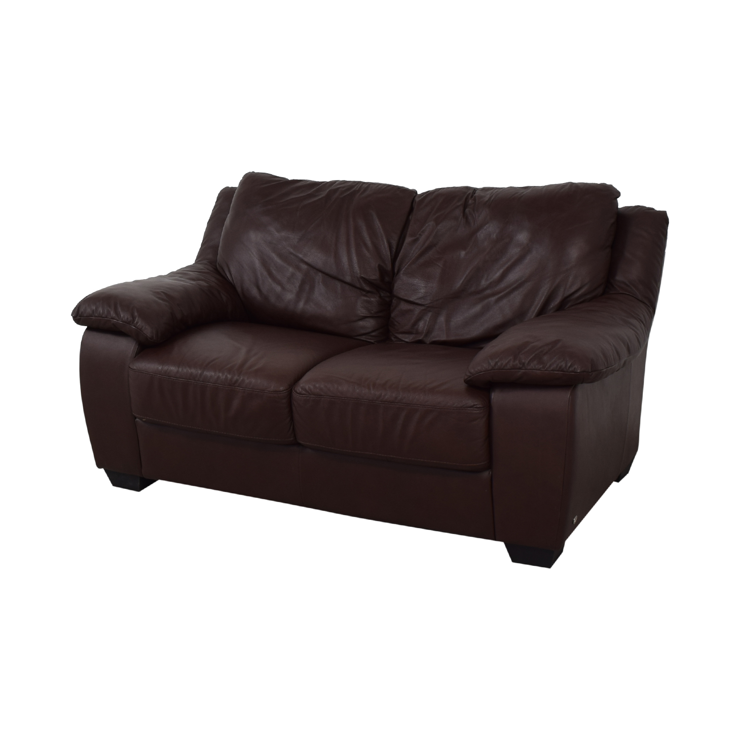 Natuzzi Natuzzi Brown Two-Cushion Loveseat dimensions