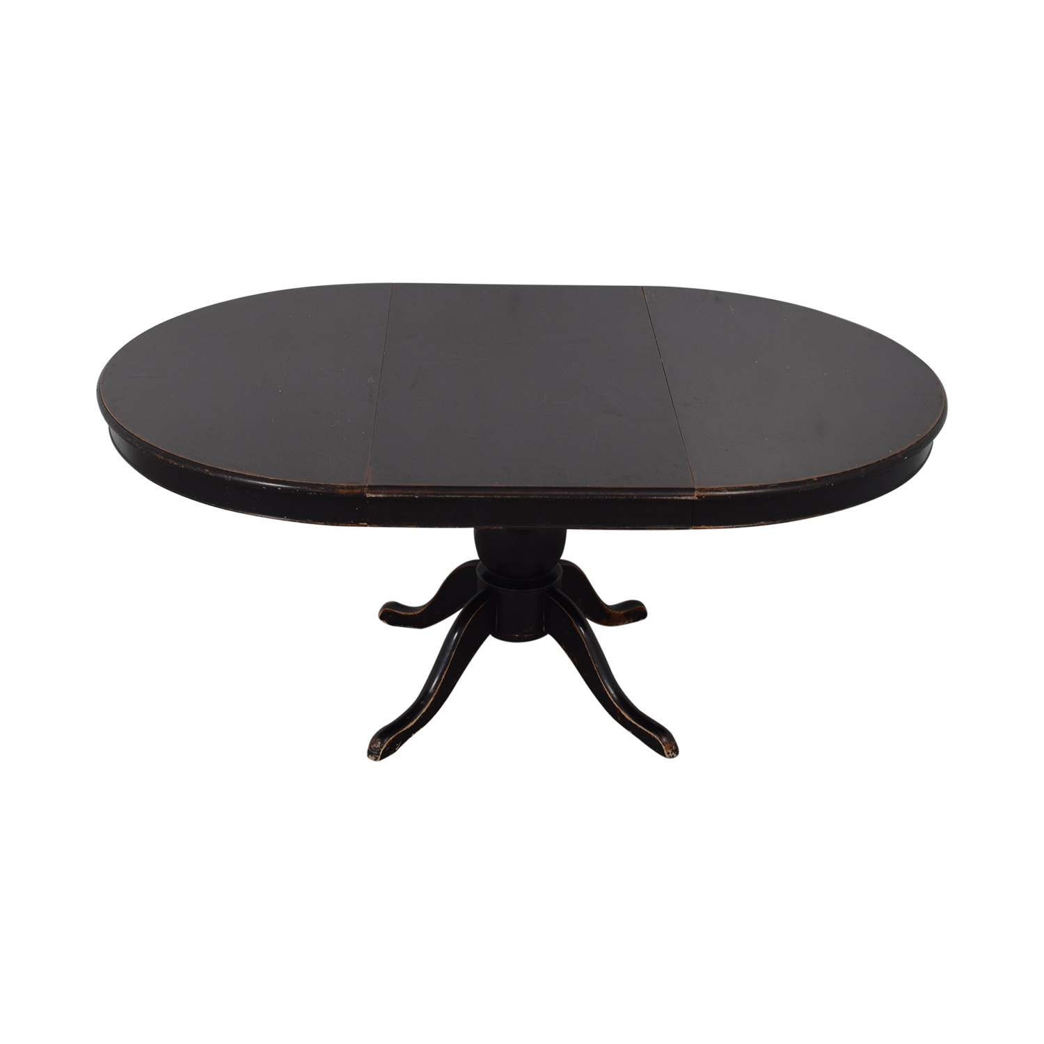 Crate & Barrel Crate & Barrel Avalon Round Extendable Dining Table black