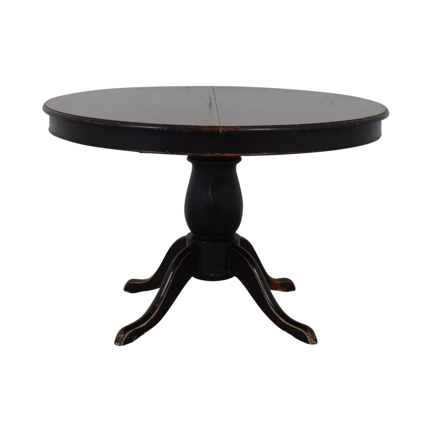 shop Crate & Barrel Avalon Round Extendable Dining Table Crate & Barrel