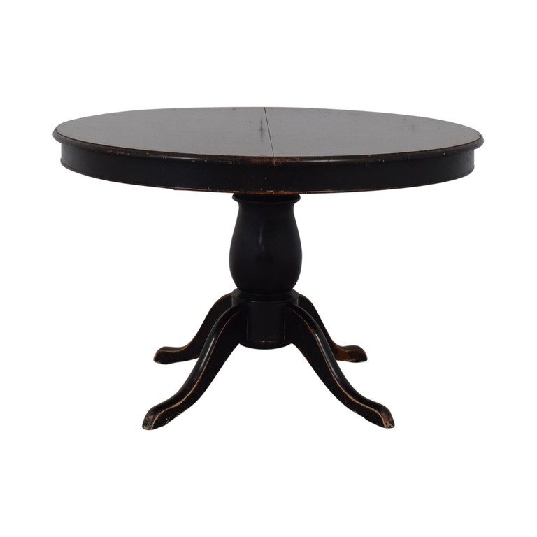buy Crate & Barrel Avalon Round Extendable Dining Table Crate & Barrel Tables