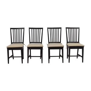 Crate & Barrel Crate & Barrel Village Bruno Black Dining Chairs coupon