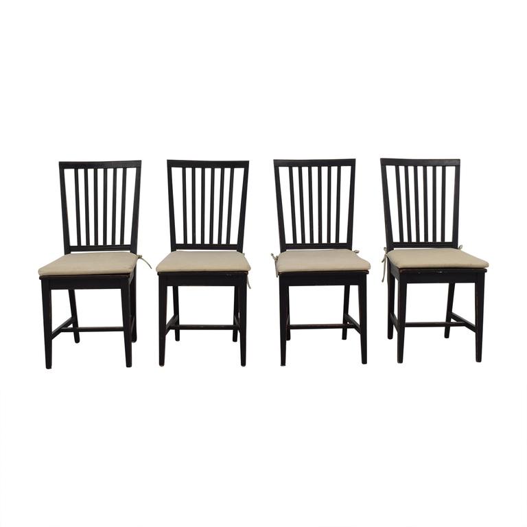 buy Crate & Barrel Crate & Barrel Village Bruno Black Dining Chairs online