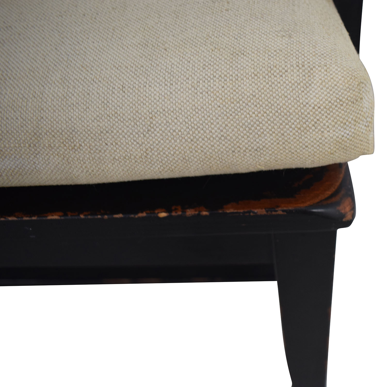 Crate & Barrel Crate & Barrel Wood Bench with Cushion second hand