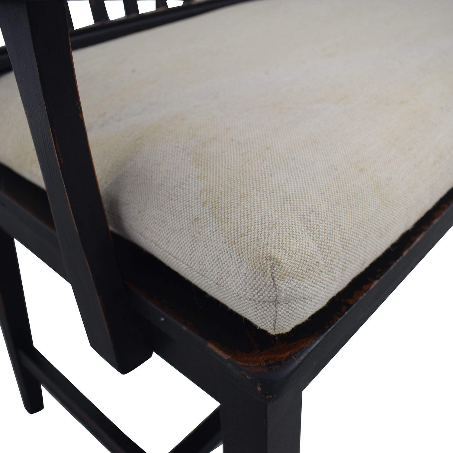 Crate & Barrel Crate & Barrel Wood Bench with Cushion used