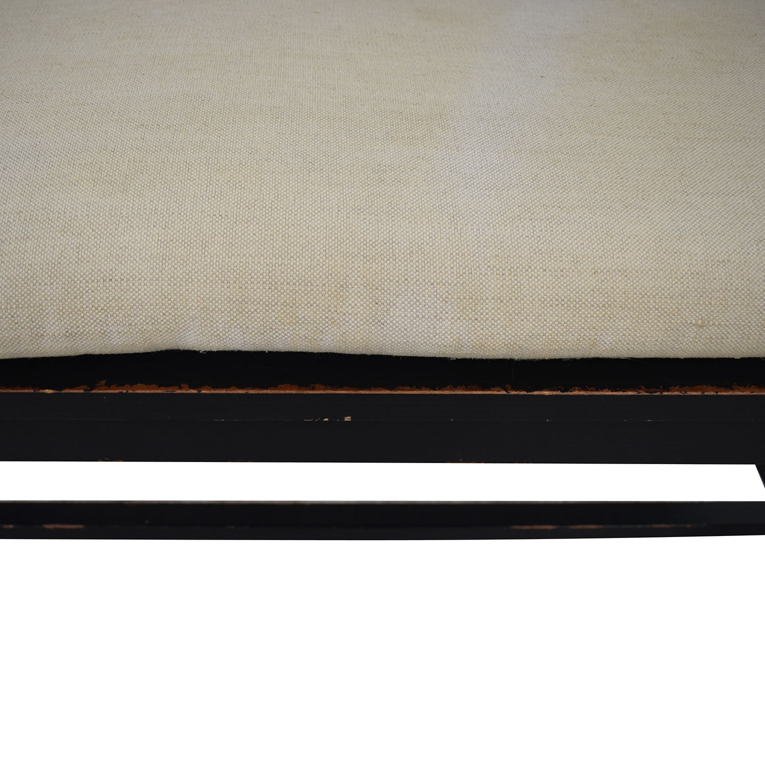 Crate & Barrel Crate & Barrel Wood Bench with Cushion for sale