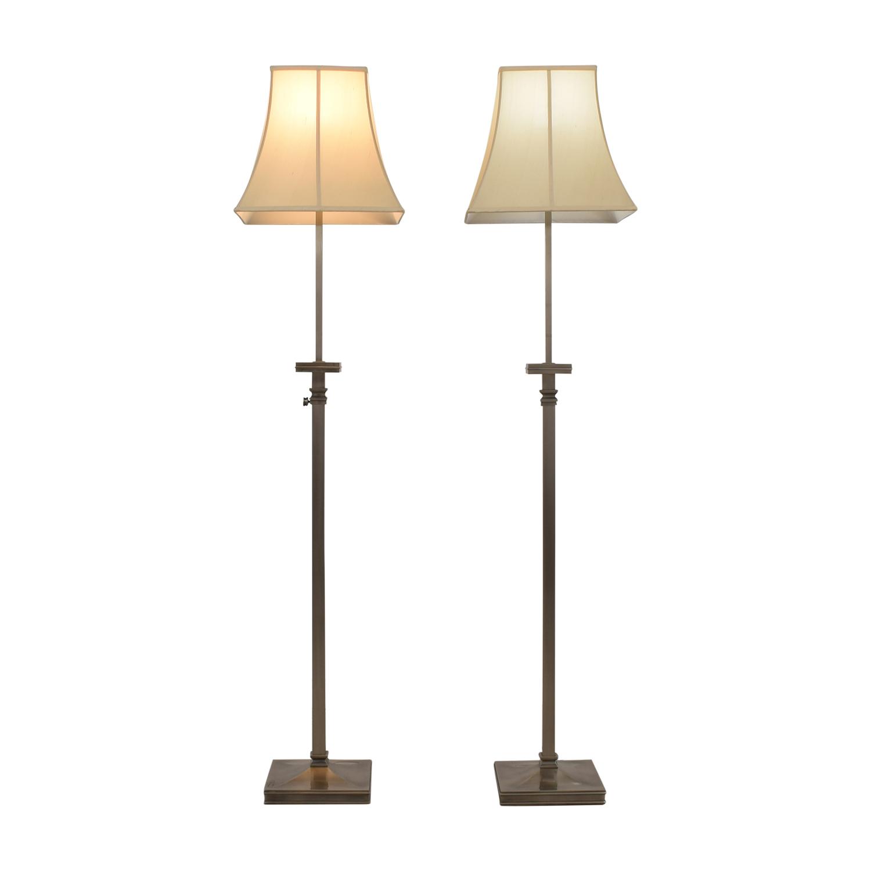 Pottery Barn Pottery Barn Chrome Adjustable Floor Lamps beige/satin metal