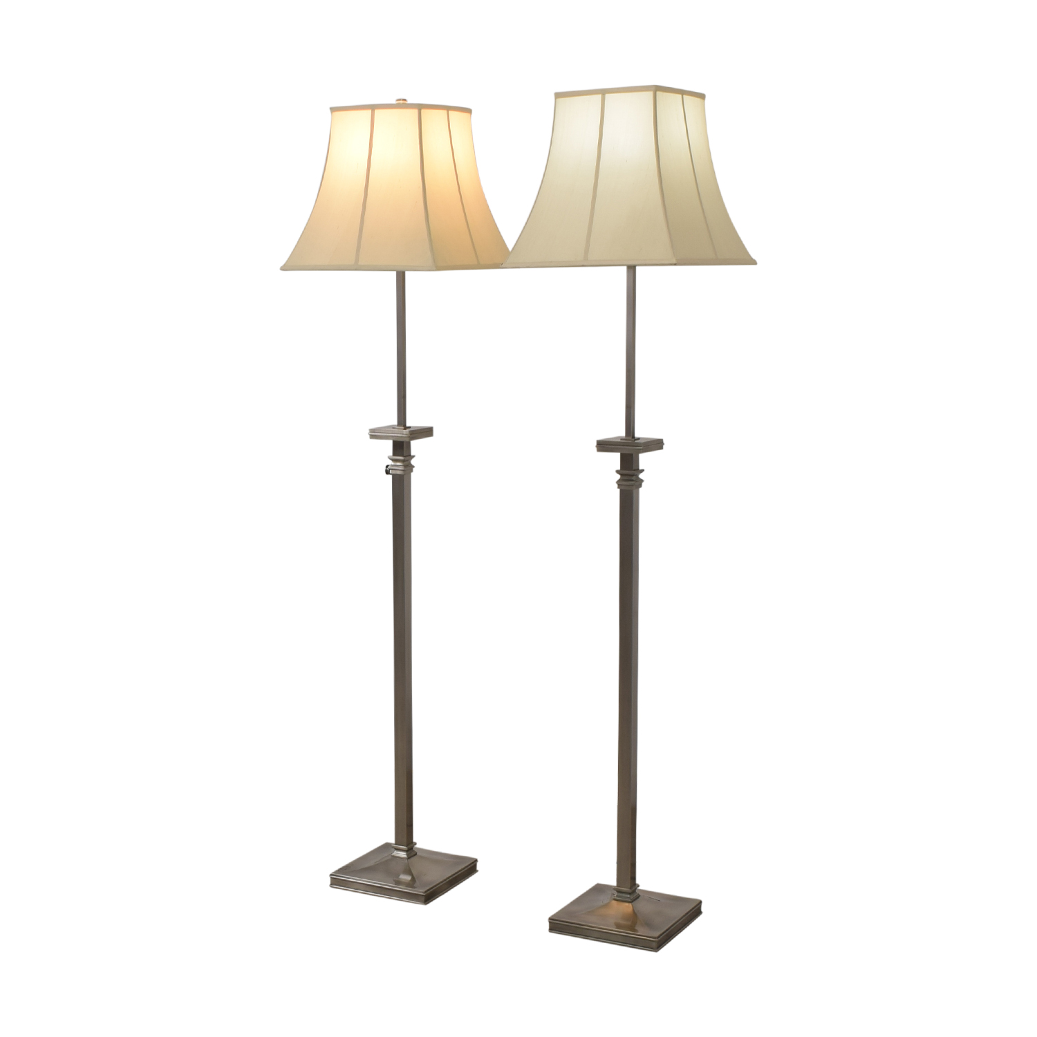 Pottery Barn Chrome Adjustable Floor Lamps / Lamps