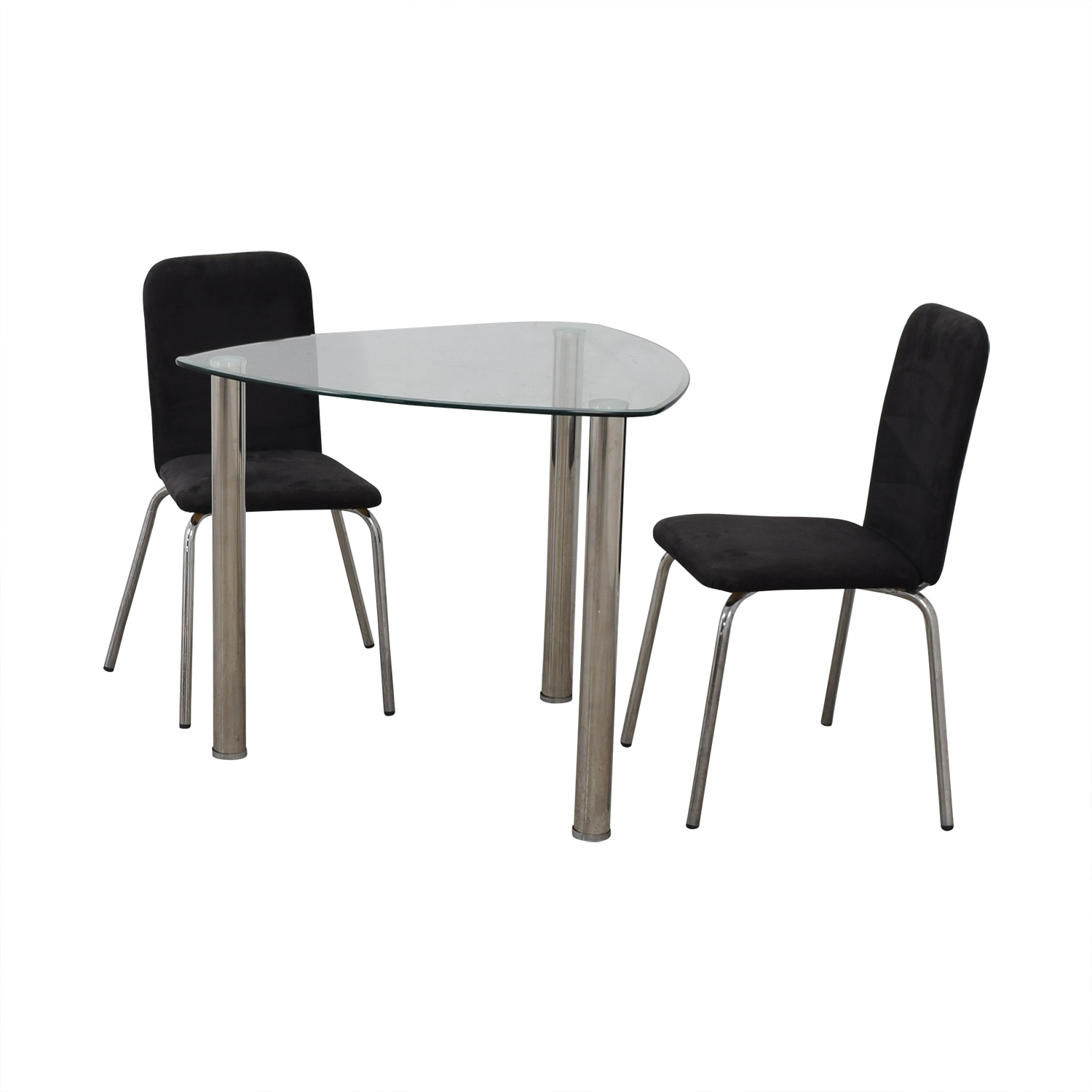 IKEA IKEA Glass and Chrome Suede Dining Set on sale