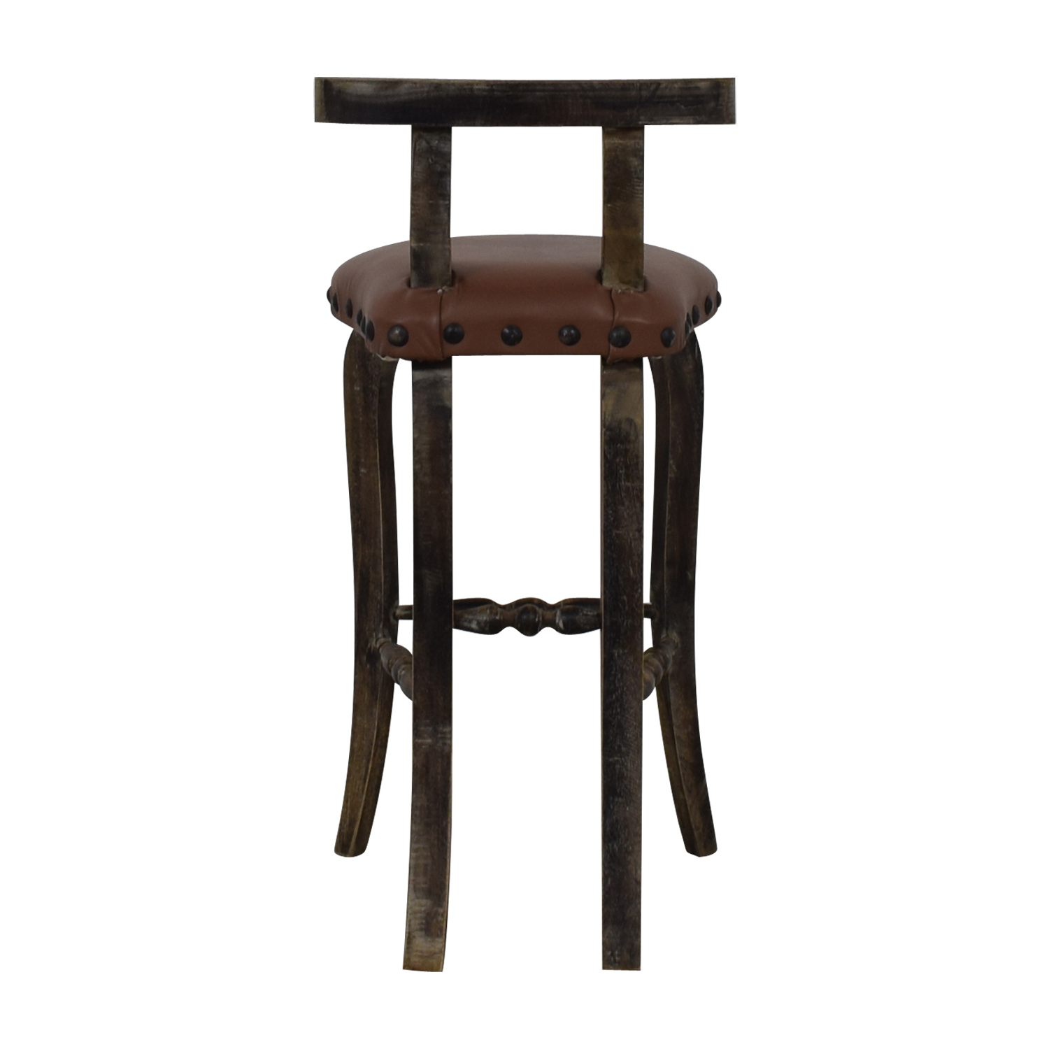 Nadeau Nadeau Antique Brown Nailhead Asian Stool on sale