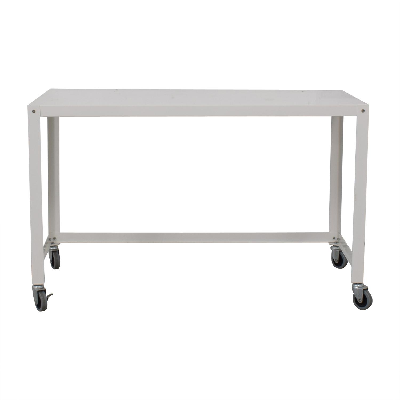 IKEA IKEA White Metal Desk discount