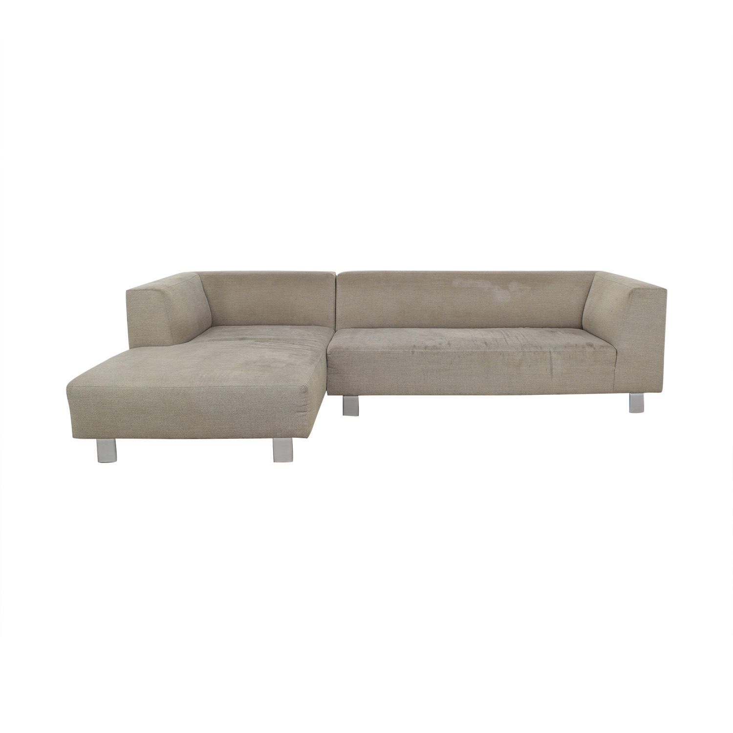 84% OFF - Room & Board Room & Board Grey L-Shaped Couch / Sofas