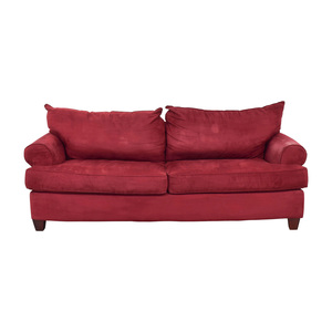Rooms To Go Rooms To Go Red Two-Cushion Sofa nj