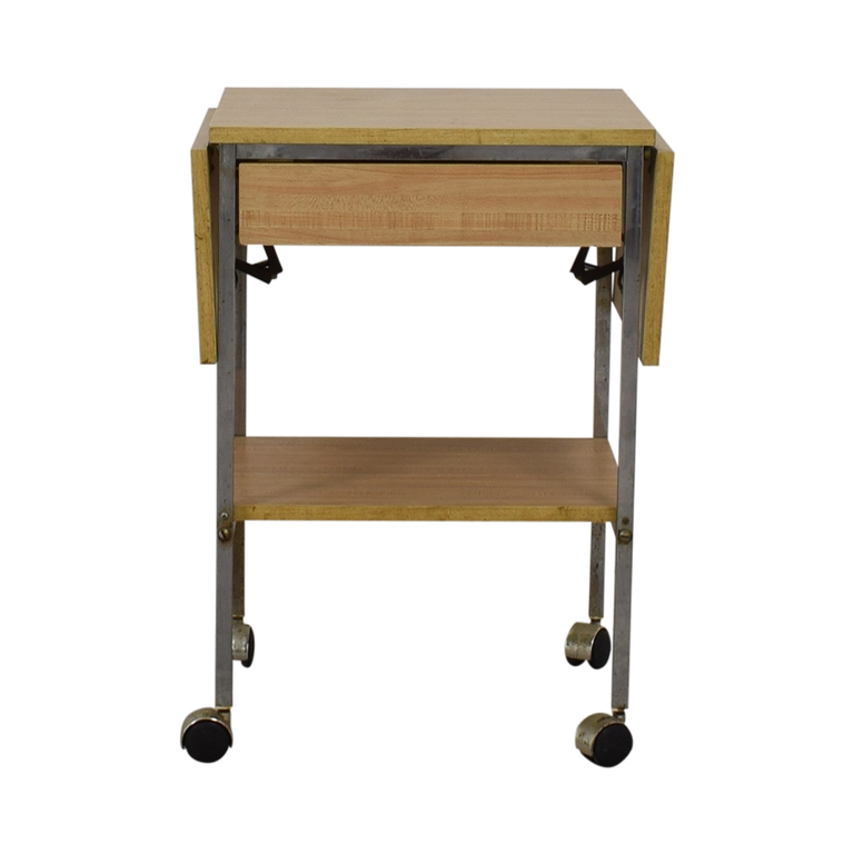 Drop Leaf One-Drawer Kitchen Cart on Casters coupon