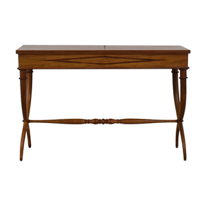 Vintage Inlaid Wood Console Tables