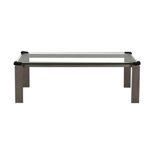 buy Room & Board Room & Board Glass  and Chrome Coffee Table online