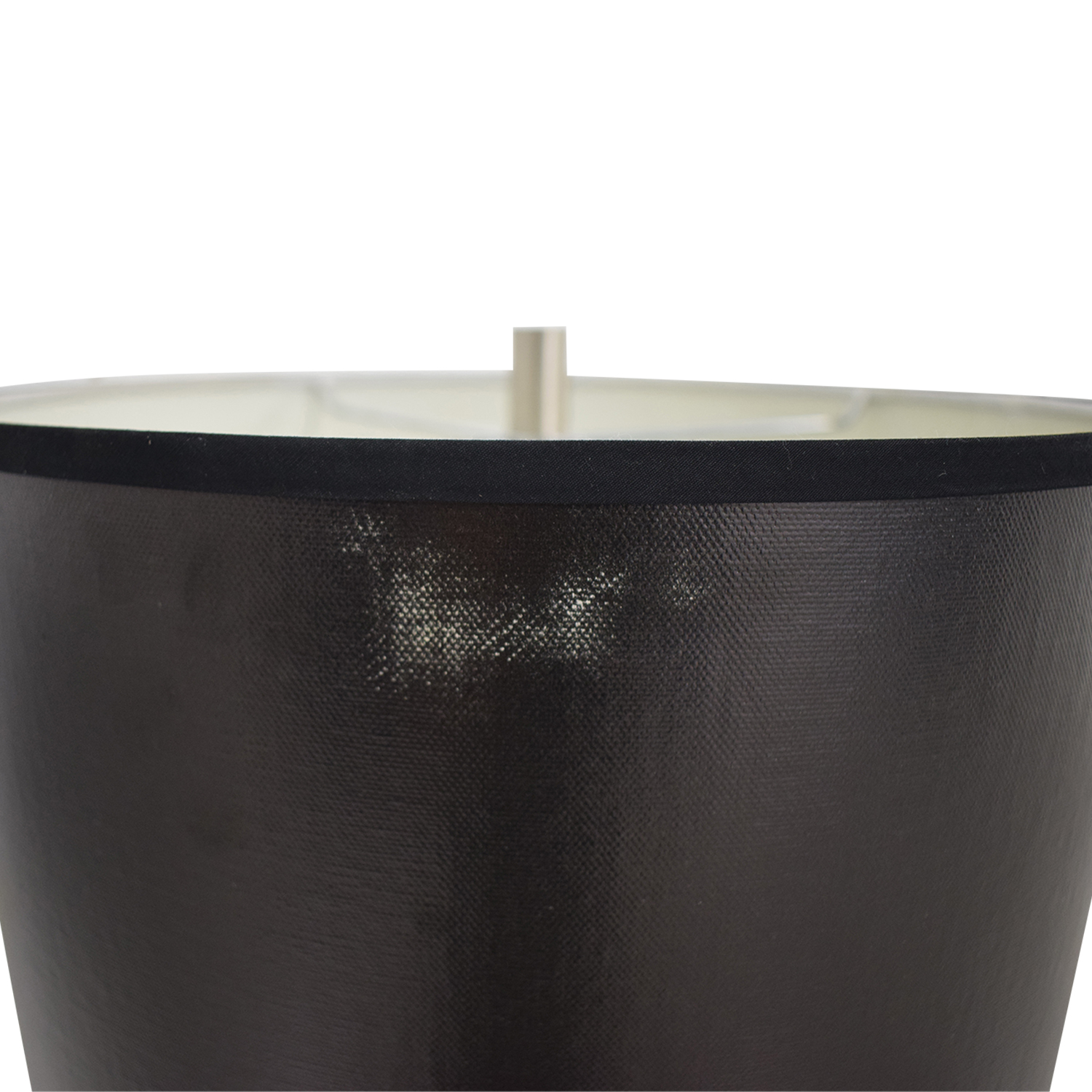 Silver Base Table Lamp with Black Shade black and silver