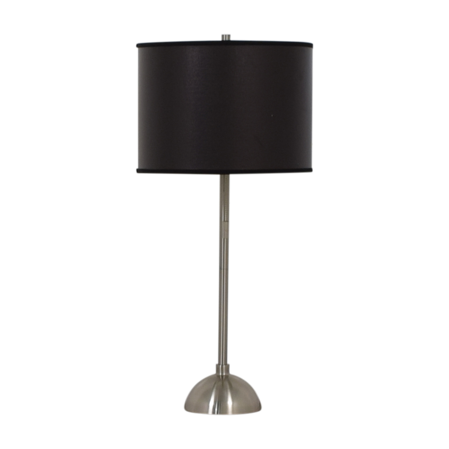 Silver Base Table Lamp With Black Shade