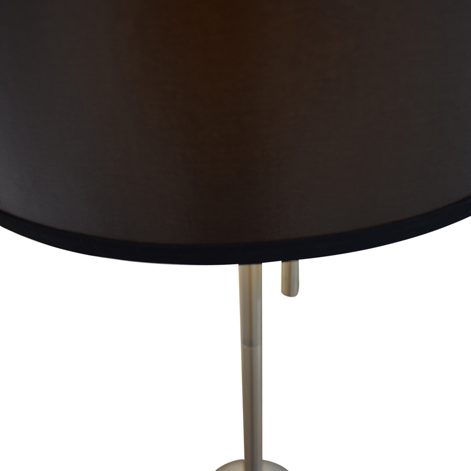 buy Silver Base Table Lamp with Black Shade