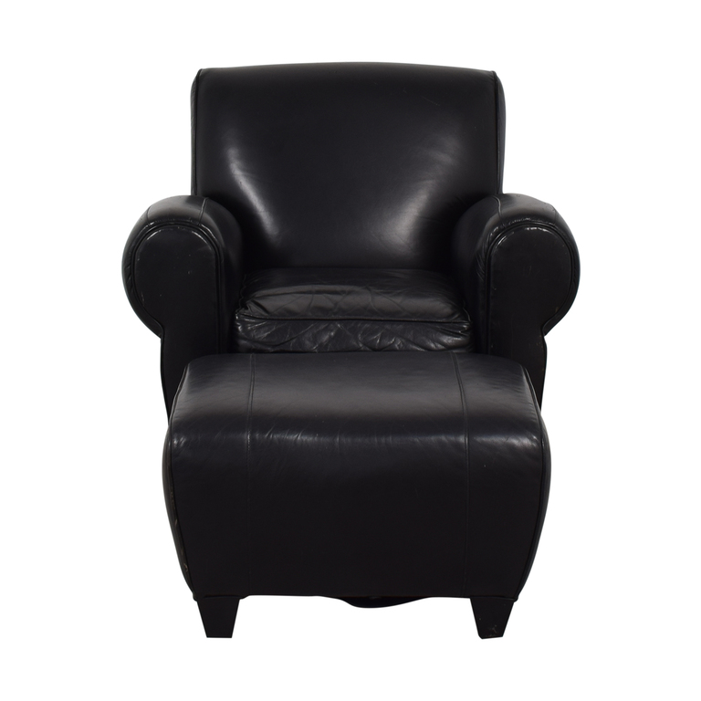 Strange Leather Chair And Ottoman Set Furniture Ncnpc Chair Design For Home Ncnpcorg