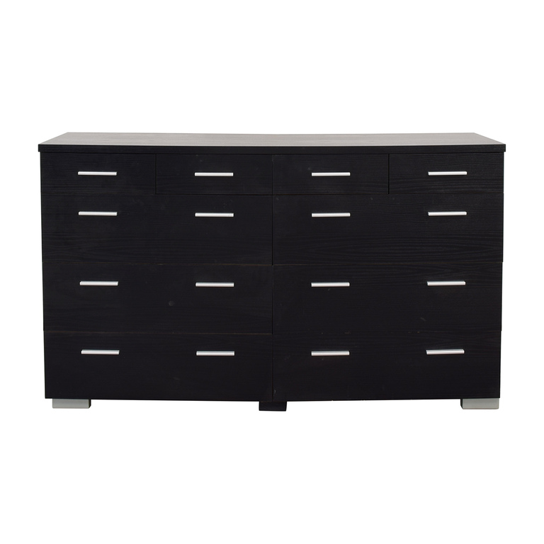 buy Black Ten-Drawer Dresser
