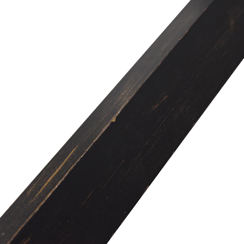 Glass and Black Wood Base Desk black