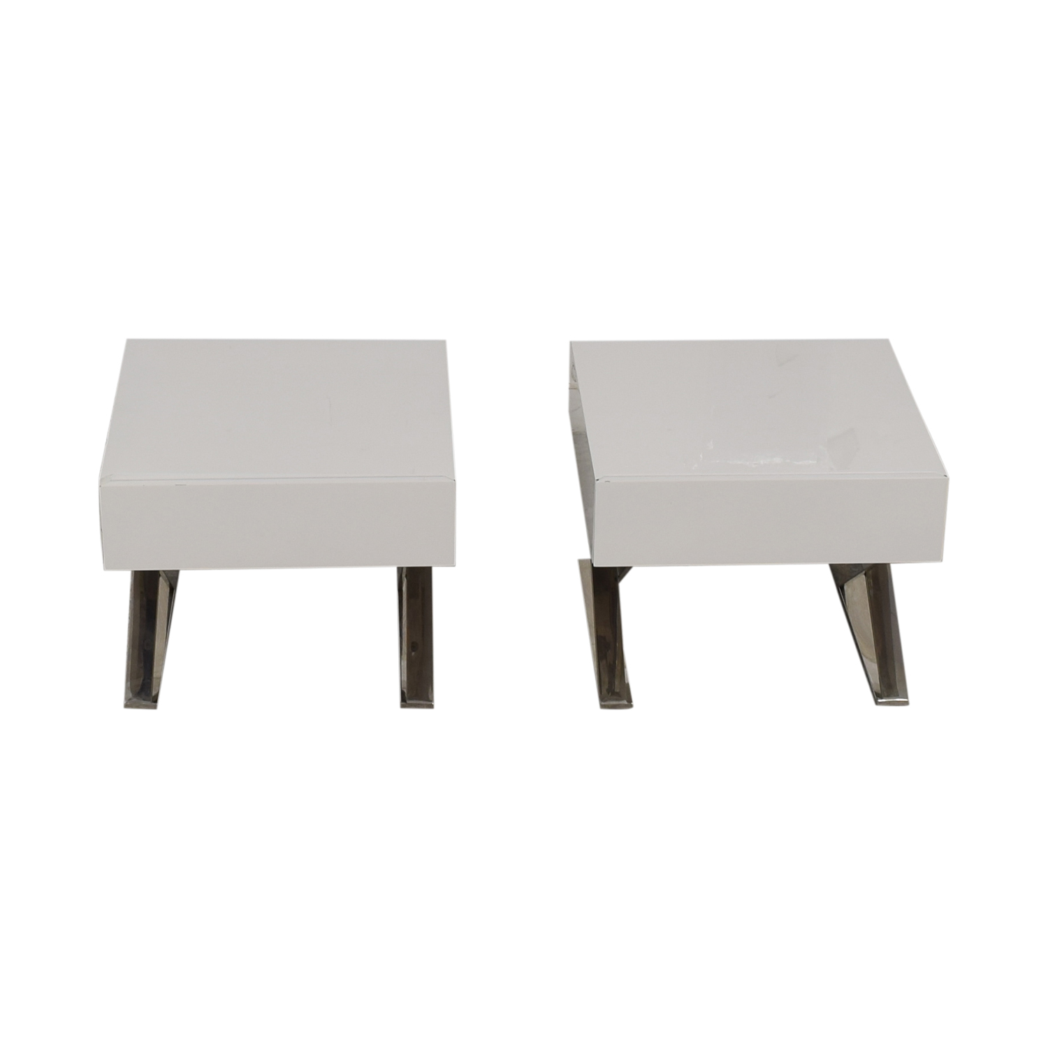 shop LexMod Sector White Single Drawer End Tables LexMod Tables