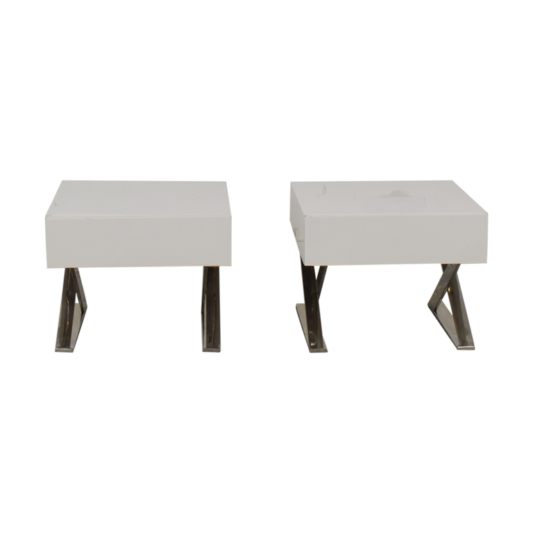 LexMod LexMod Sector White Single Drawer End Tables coupon