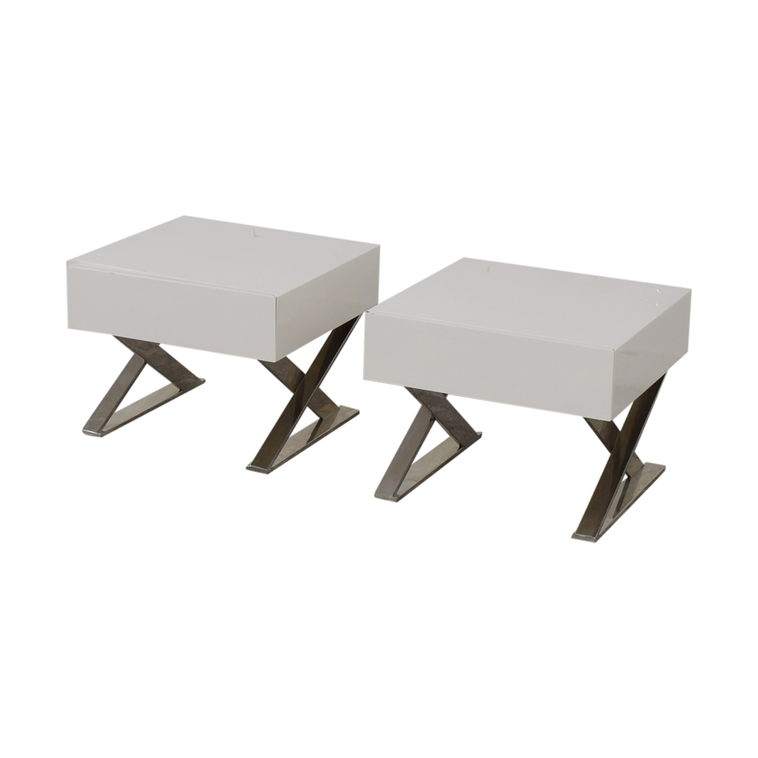 buy LexMod LexMod Sector White Single Drawer End Tables online