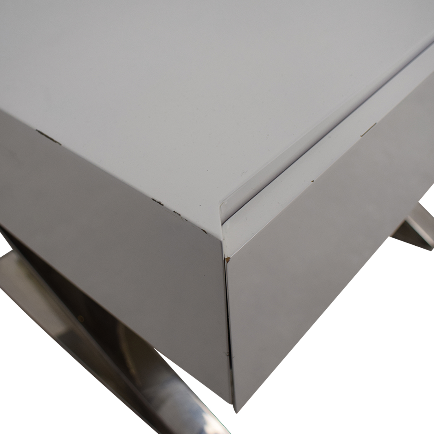 LexMod Sector White Single Drawer End Tables sale