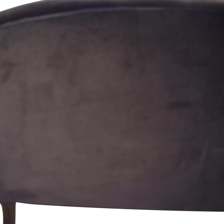 Century Furniture Century Furniture Black Velvet Two-Cushion Sofa dimensions