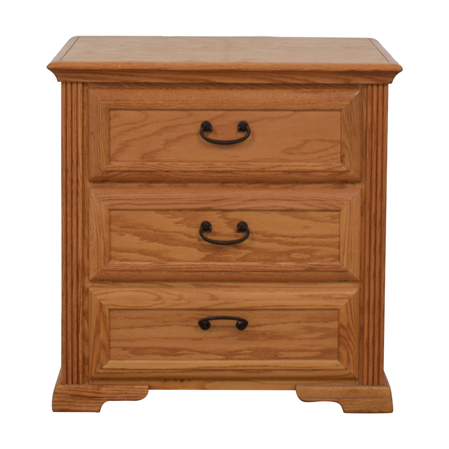 shop Raymour & Flanigan Wood Three-Drawer End Table Raymour & Flanigan Tables
