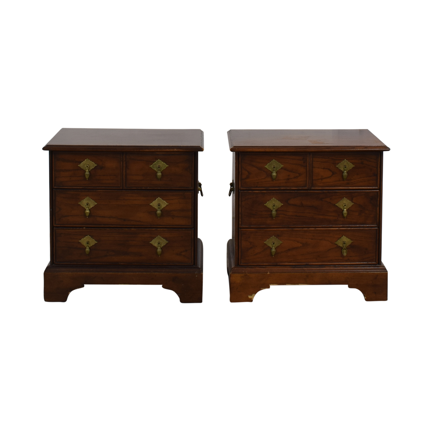 Four-Drawer Wood End Tables End Tables