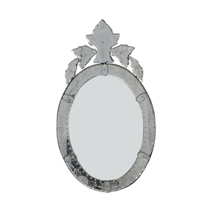 Etched Scalloped Venetian Mirror for sale