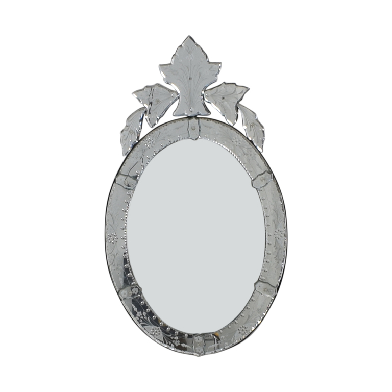 Etched Scalloped Venetian Mirror nj