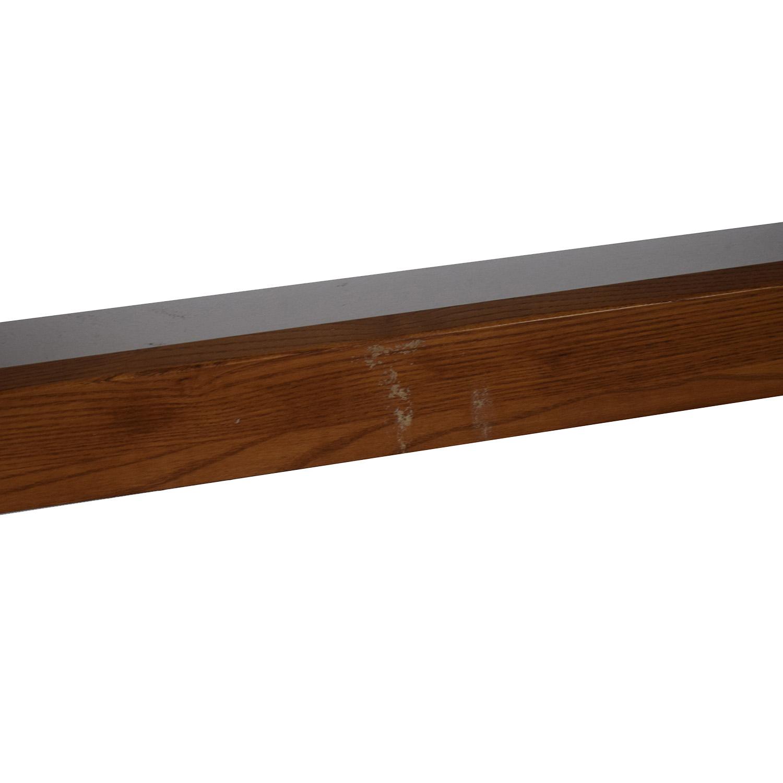 buy Bassett Mission Two-Drawer Desk Bassett Tables