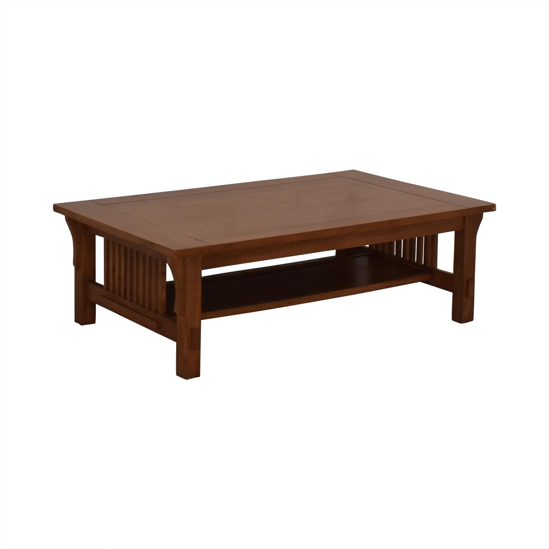 Scott Jordon Mission Style Wood Coffee Table / Coffee Tables