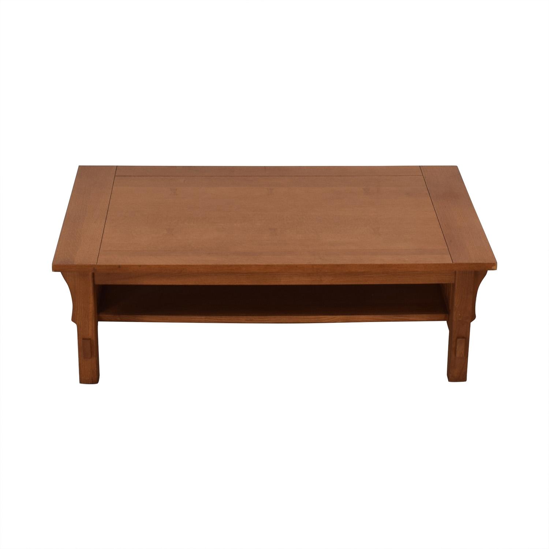 Scott Jordon Scott Jordon Mission Style Wood Coffee Table