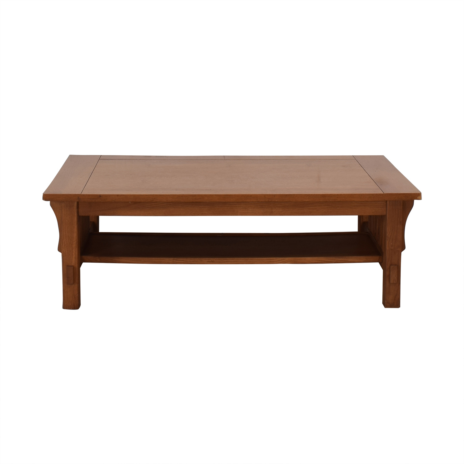 Scott Jordon Scott Jordon Mission Style Wood Coffee Table brown