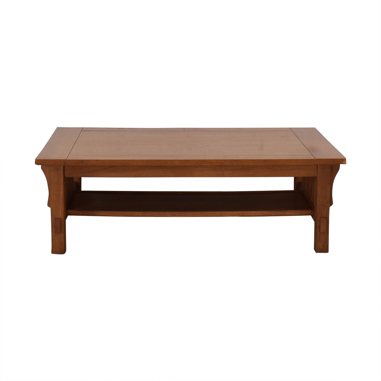 Scott Jordon Scott Jordon Mission Style Wood Coffee Table brown